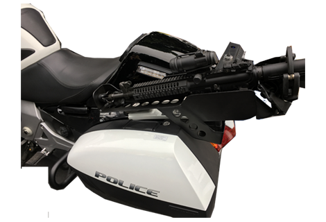 HB Honda Creates Customer Gun Racks and Holsters for Law Enforcement Motorcycles - Any Brand